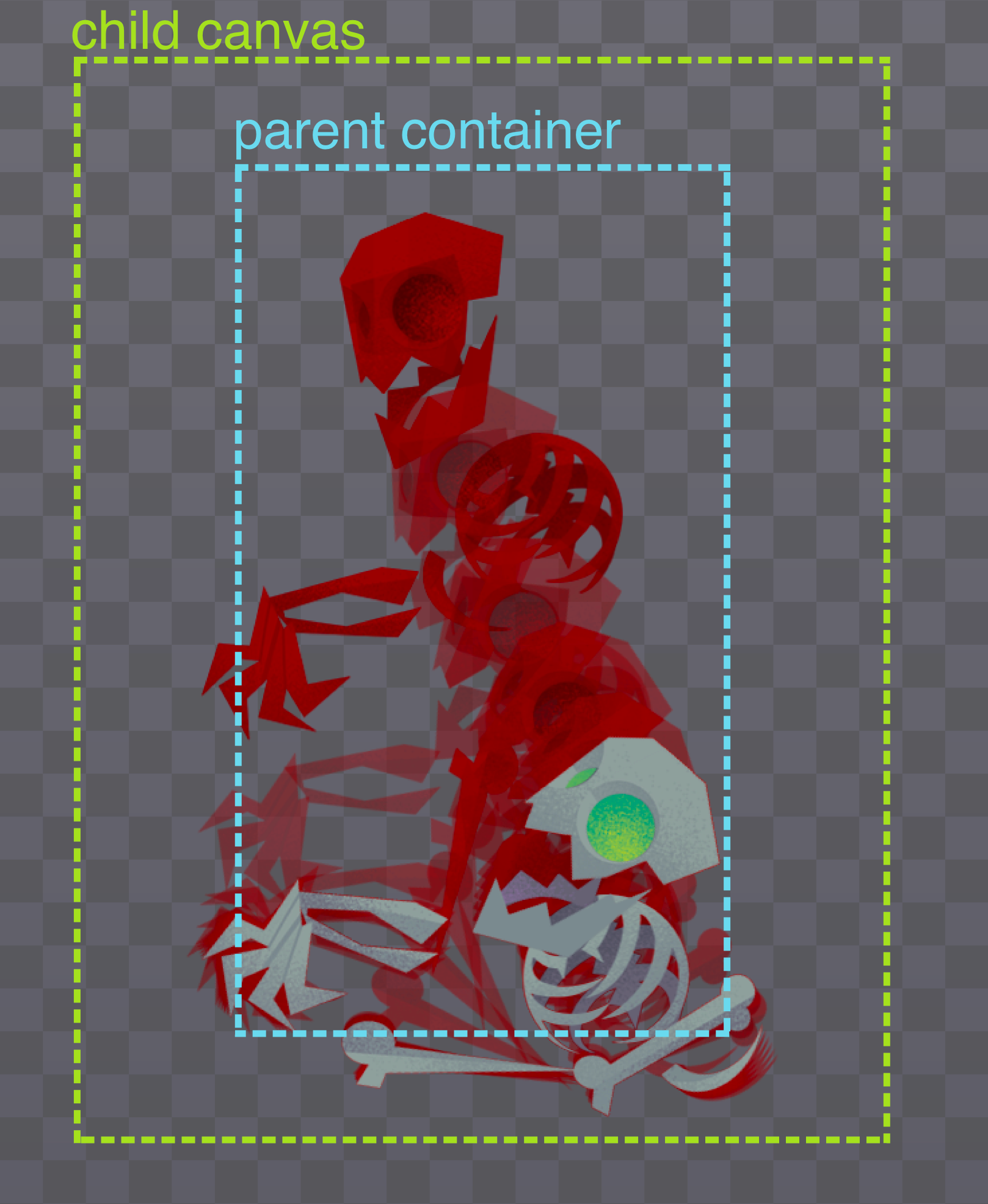 pinning element to parent's center